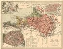 FRANCE MANCHE ENGLISH CHANNEL WATERSHED. Seine Somme Orne Rance basins, 1880 map